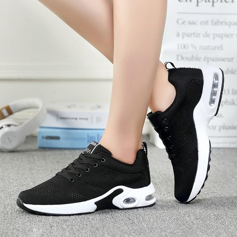 Women Sneakers Mesh Casual Breathable Hollow Cushion Shoes Solid Soft Bottom Trainers Female Shoes