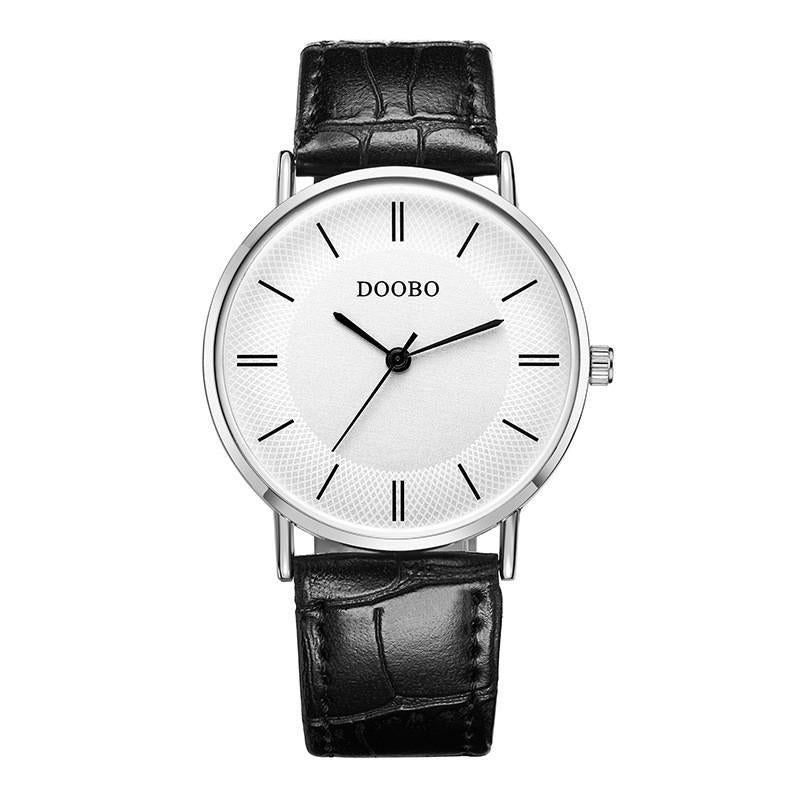 Fashion Quartz Watch Business Leather Strap Mens Watch Simple Casual Waterproof Watch