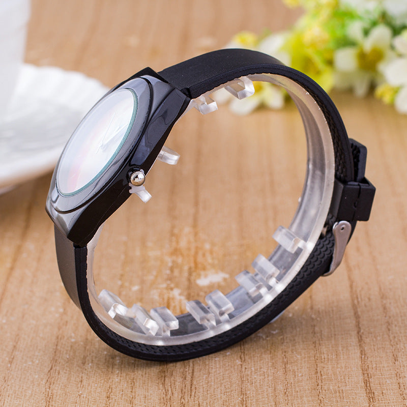 Rainbow Fashion Men Women Jelly Silicone Watch Casual Simple Quartz Wristwatch