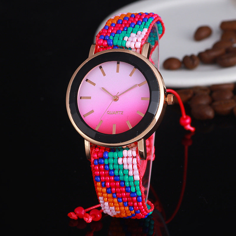 Unique Colorful Womens Quartz Watch Women Boho Jewelry Fashion Wristwatch