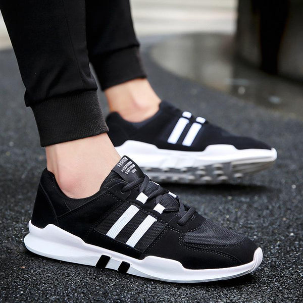 fe8fdde3beca Mens Breathable Mesh Cloth Lace-up Sneakers Casual Students Running Color  Matching Shoes Men s Shoes