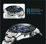 Men Military Watch LED Pointer Watch Waterproof Sports Watches Full Stainless Steel with Gift Box