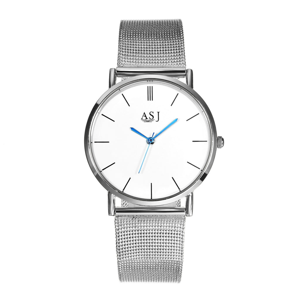 Watch Mesh Belt for Men and Women-Large dial-68 movement-Simple Quartz Watch