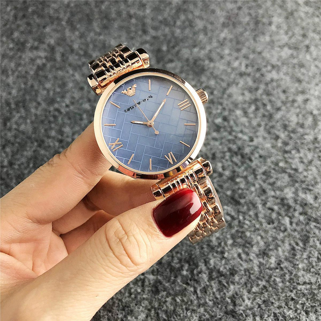 Women Men Fashion Quartz Watch Steel Band Wristwatch Analog Accessories Luxury Brand
