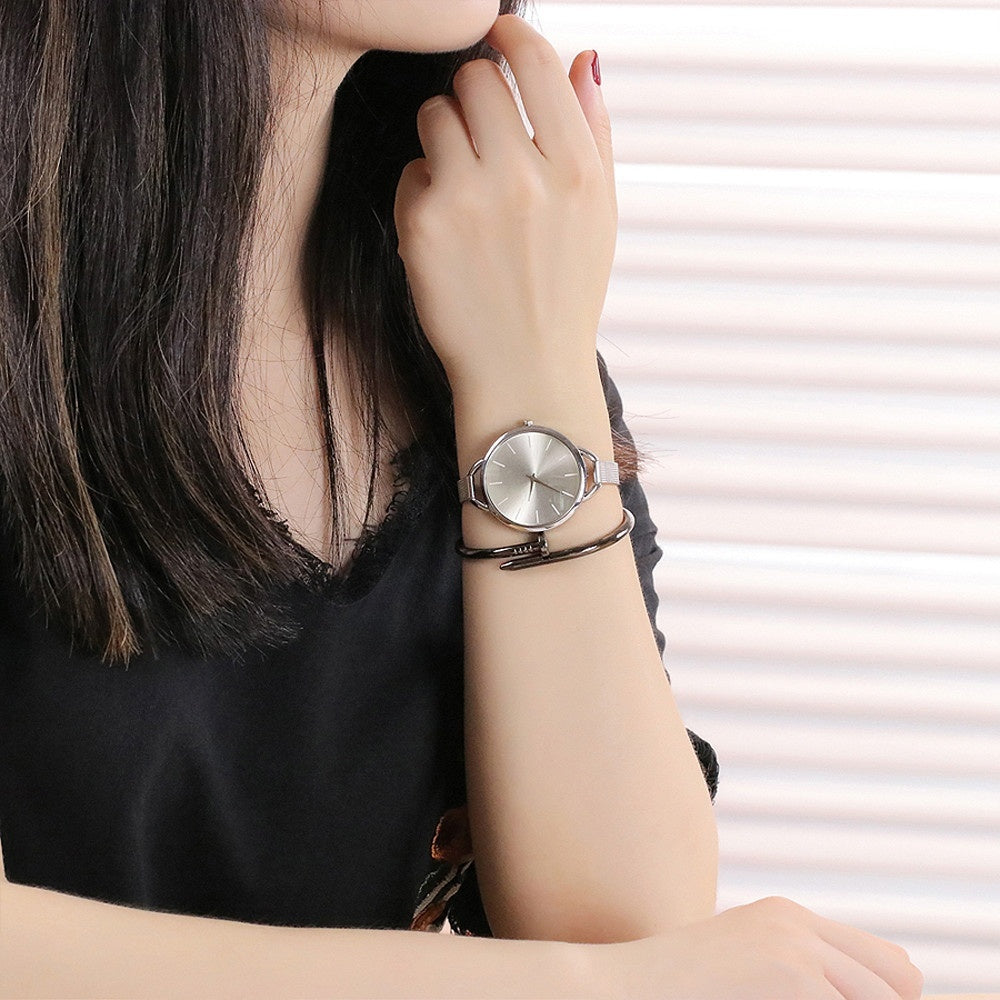Casual Quartz Stainless Steel Band Strap Watch Wrist Watch