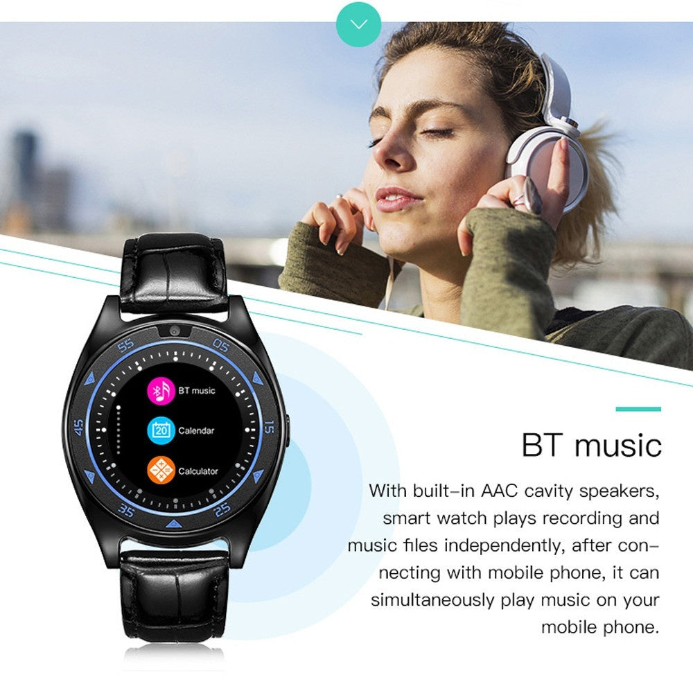 TQ920 Heart Rate Blood Pressure Monitor Slot Wrist Waterproof Bluetooth Smart Watch