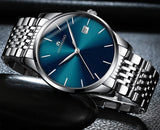 Fashion Men's Date Day Stainless Steel Analog Quartz Sports Business Wrist Watch