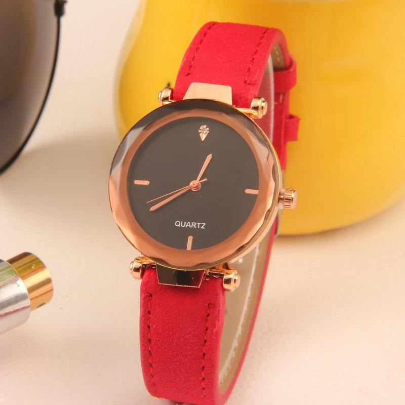 Fashion Women Jewelry Elegant Watch Lether Strap Wristwatch Anolog Ladies Quartz Watches Accessories