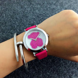 Fashion Women's Leather Quartz Analog Cute Wrist Watch