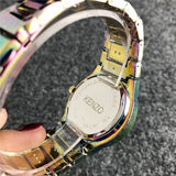 Fashion Quartz Watch tiger Silver Powder Watch Female Stylish Alloy Analog Wrist Watch