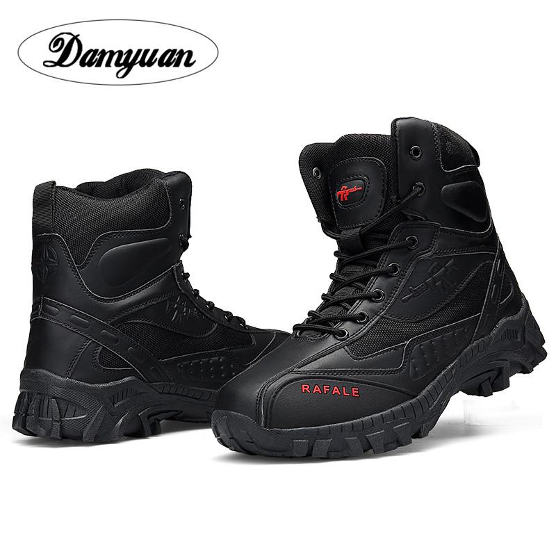 Damyuan Shoes Men's Desert Boots Combat Boots Travel Hiking High Help Hiking Shoes Training Shoes