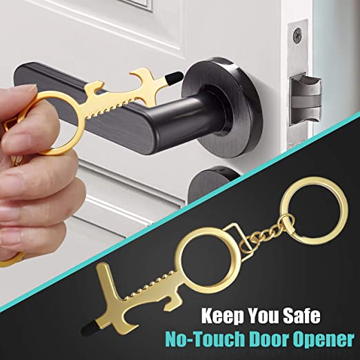 The Newest Creative Multifunctional Contactless Door Opener Keychain-50% OFF TODAY