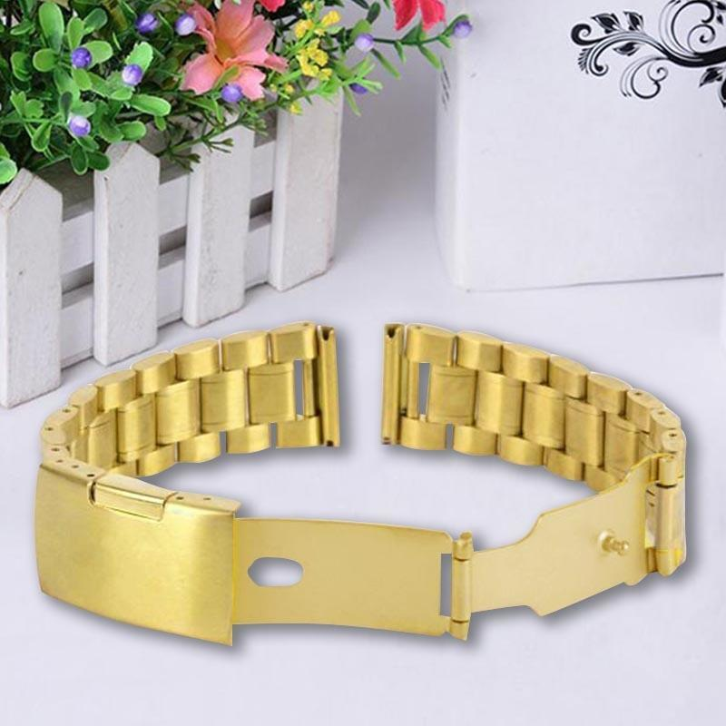 Durable 4Size Stainless Steel Watch Band Buckle Replacement Wrist Watch Straps