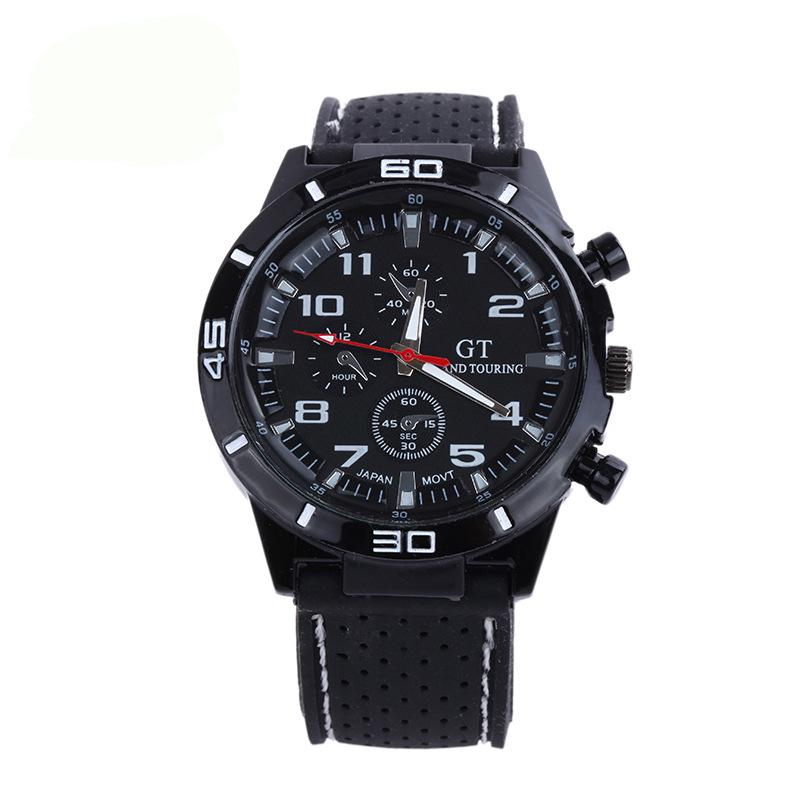 Mens Casual Fashion Sports Watch Silicone Strap Watch Students Couples Wristwatches