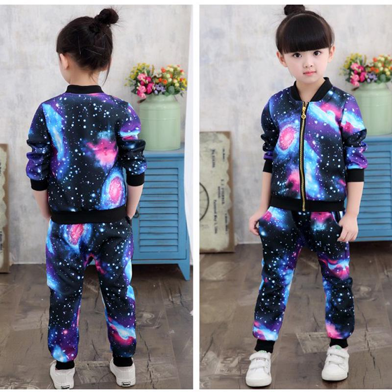 Tracksuit for Girls Children Clothing Girls Jacket Kids Casual Sports Suit Toddler Girl Tracksuit