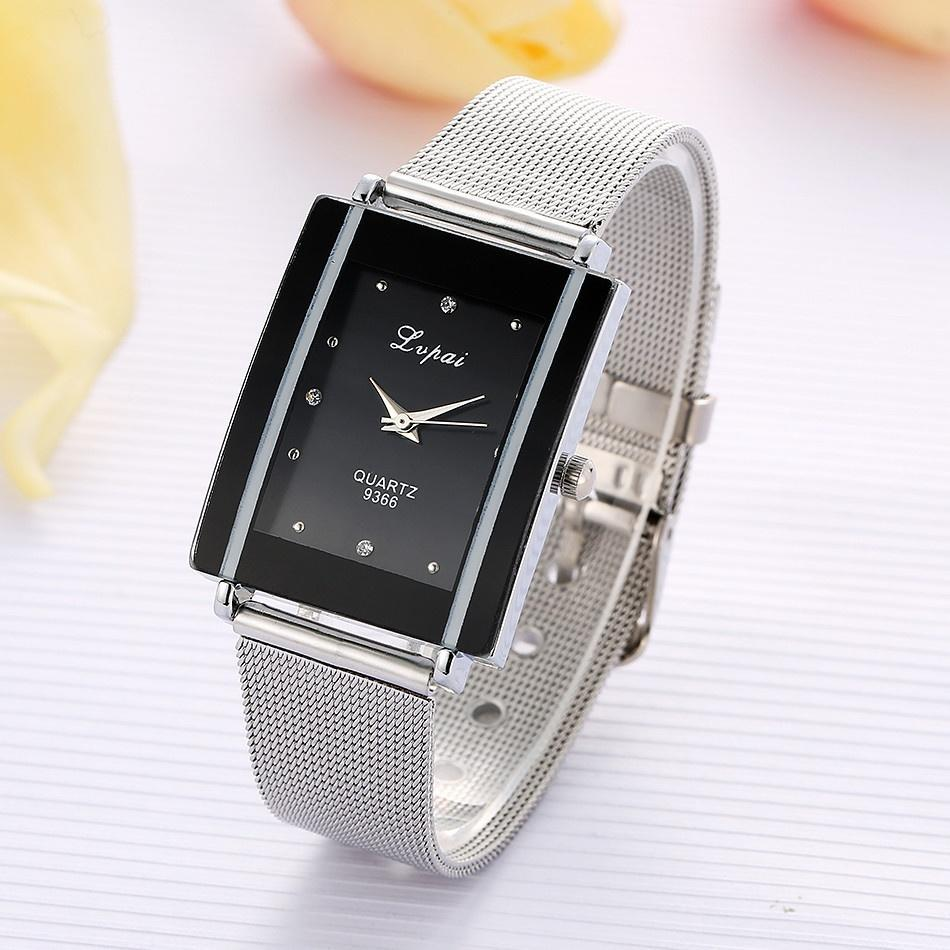 Luxury Watches Women Quartz Wristwatch Clock Ladies Dress Gift Watches Mesh Steel Band Watch