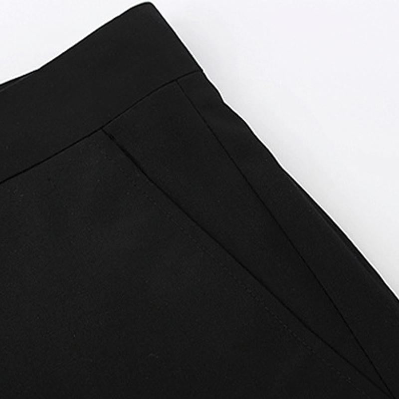 Spring Summer Mens Trousers Slim Type Business Casual Loose Youth Professional Black Suit Pants