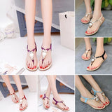Women Flat Gladiator Sandal Shoes Girls Beach Owl Beaded Sandals Flip Flop Thong Sandals SneaWomen Shoes