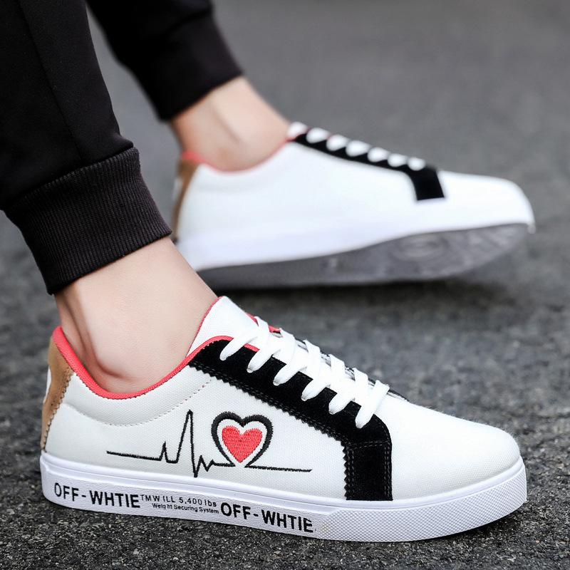 White Shoes Men Breathable Shoes Canvas Shoes Men Shoes Personality Board Shoes Men Students