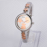 Women Men Fashion Quartz Watch Steel Band Analog Cute Bear Simple Style Jewelry Wristwatch Watches