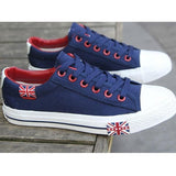 Mens Fashion Sneakers Canvas Shoes white black blue England Logo Eur Size 39-44 Men's Shoes