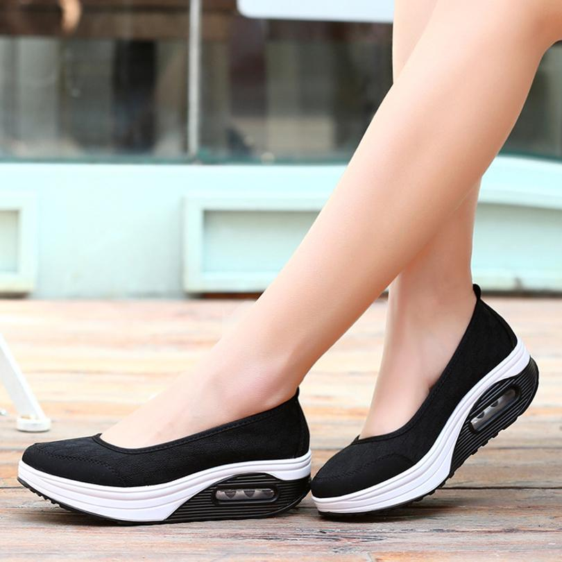 Women's Casual Breathable Mesh Fitness Shoes Platform Shake ShoesWomen Shoes