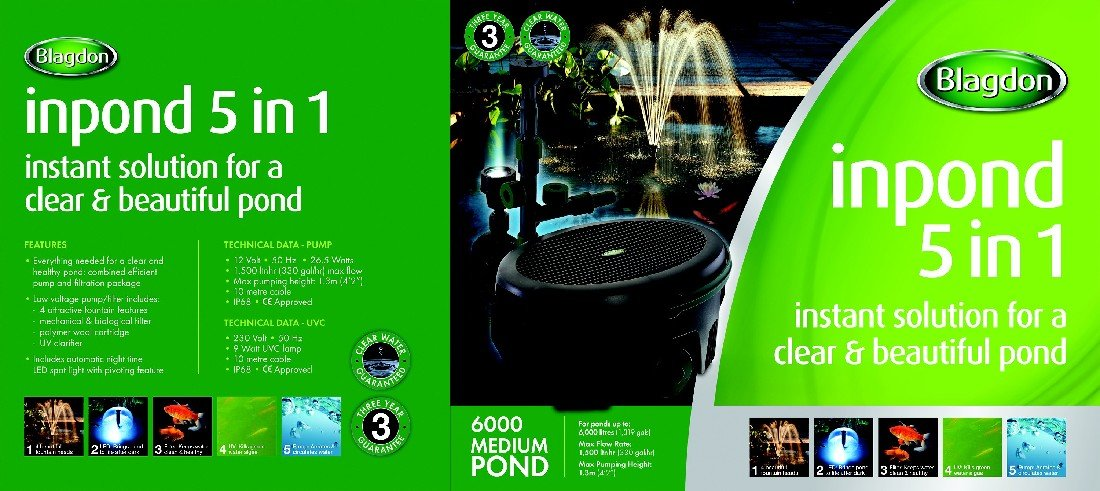 Blagdon Inpond 5 in 1 Pond Multi Filter 6000