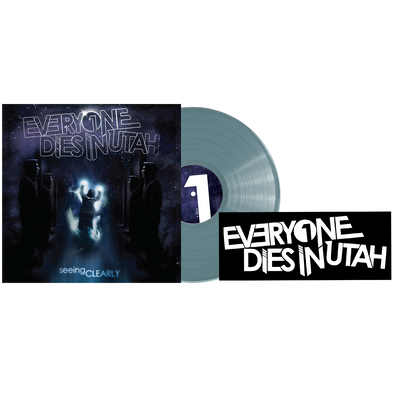 "Everyone Dies In Utah - ""Seeing Clearly"" Translucent Blue Vinyl & Sticker Bundle"
