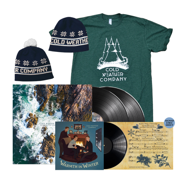 "COLD WEATHER COMPANY - Warmth in Winter 7"" LP + Find Light 12"" LP + Shirt + Beanie Bundle"