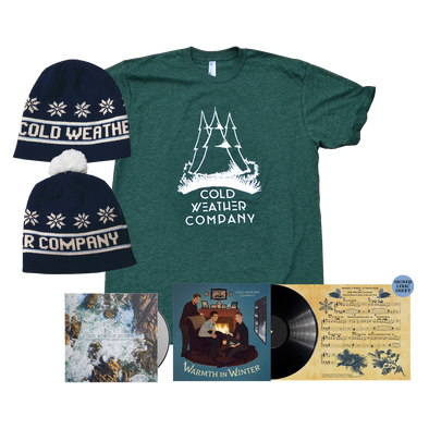 "COLD WEATHER COMPANY - Warmth in Winter 7"" LP + Find Light CD + Shirt + Beanie Bundle"