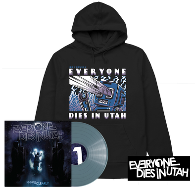 "Everyone Dies In Utah - ""Seeing Clearly"" Translucent Blue Vinyl Hoodie Bundle"