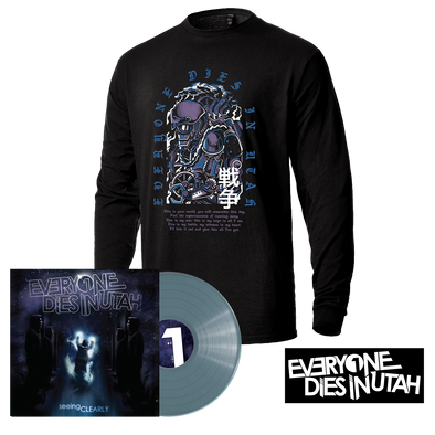 "Everyone Dies In Utah - ""Seeing Clearly"" Translucent Blue Vinyl Longsleeve Bundle"