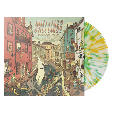 "Dwellings ""Lavender Town"" Lemon/Lime Splatter Vinyl"