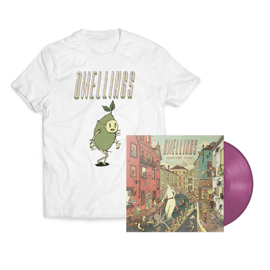 "Dwellings ""Lavender Town"" Opaque Lavender Vinyl + Lime Guy Bundle"