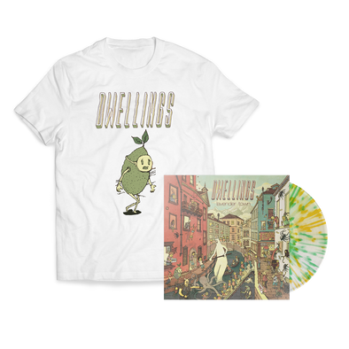 "Dwellings ""Lavender Town"" Lemon/Lime Splatter Vinyl + Lime Guy Bundle"