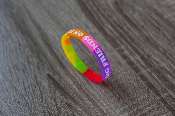 I Set My Friends on Fire Rainbow Wristband