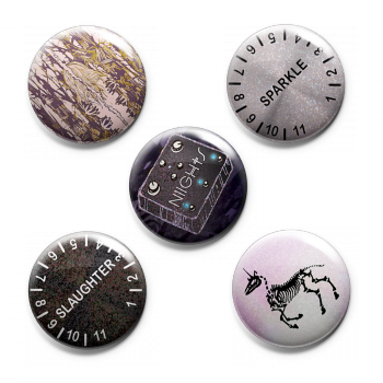 "NIIGHTS ""Hellebores"" Button Pack (5 piece)"