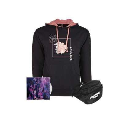 "Strawberry Girls ""Tasmanian Glow"" Glitch Horse Hoodie/Fanny Bundle"