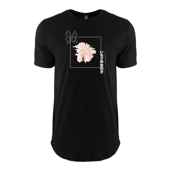 "Strawberry Girls ""Tasmanian Glow"" Glitch Horse Dropcut Tee"