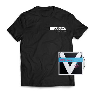 The Vibrators - Live in NYC CD + Shirt Bundle