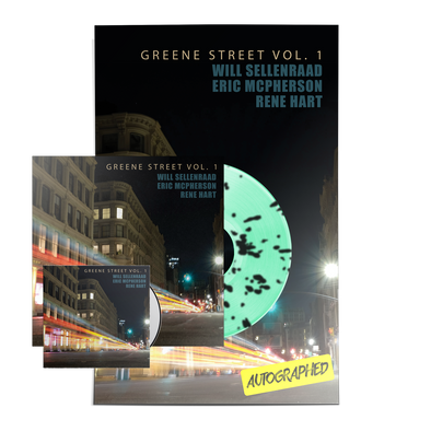 "WILL SELLENRAAD ""GREENE ST VOL. 1"" MINT GREEN/BLACK SPLATTER LP/CD/POSTER BUNDLE"