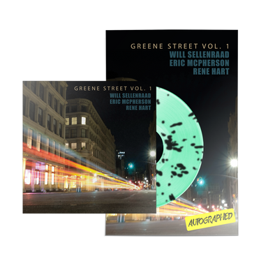 "WILL SELLENRAAD ""GREENE ST VOL. 1"" MINT GREEN/BLACK SPLATTER LP POSTER BUNDLE"