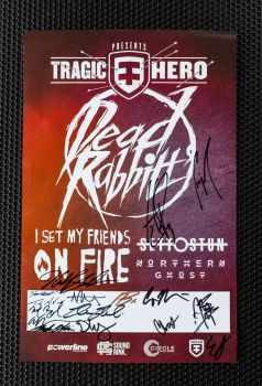 Tragic Hero Tour 2017 Autographed Poster