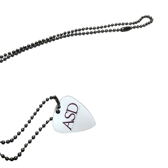 A Skylit Drive Guitar Pick Necklace