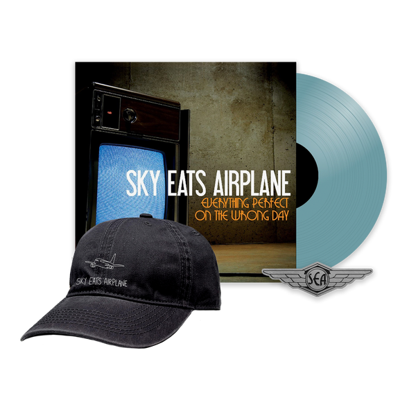 Sky Eats Airplane - E.P.O.T.W.D. Translucent Blue Vinyl + Hat Bundle