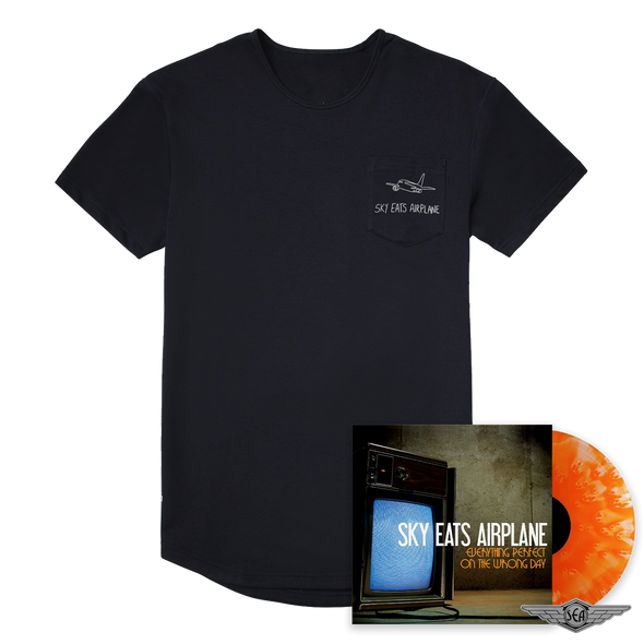 Sky Eats Airplane - E.P.O.T.W.D. Orange Vinyl + Embroidered Pocket Tee