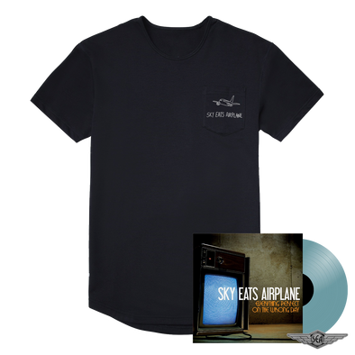 Sky Eats Airplane - E.P.O.T.W.D. Translucent Blue Vinyl + Embroidered Pocket Tee