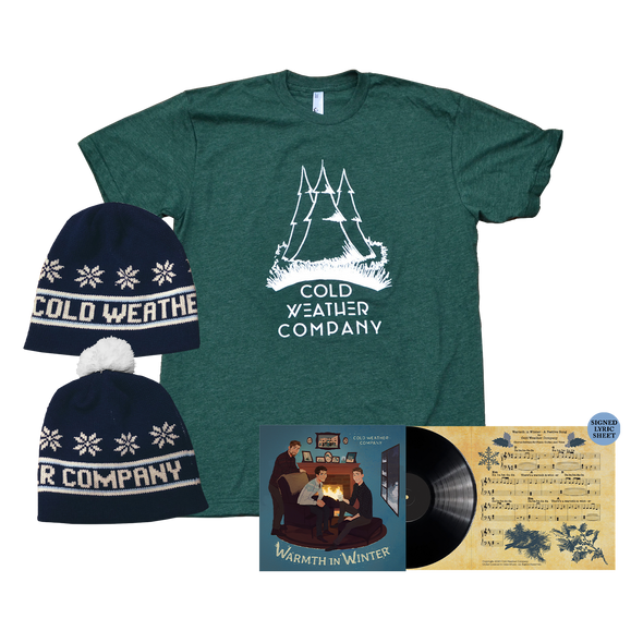 "COLD WEATHER COMPANY - Warmth in Winter 7"" LP + Shirt + Beanie Bundle"