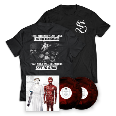"SET TO STUN - ""SET TO STUN and The Desperado Undead"" Bodysnatchers Vinyl + Resistance Tee"