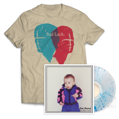 Bad Luck - Cold Bones Wish We Still Talked Shirt w/ Royal Blue Splatter Vinyl Bundle